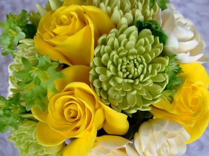 Rose, Crysanthemum, and Gardenia Bouquet