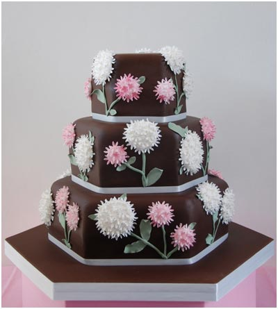 Chocolate Garden Wedding Cake