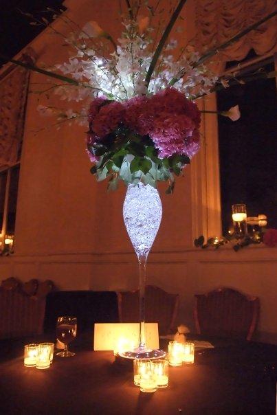 wedding centerpiece lighting