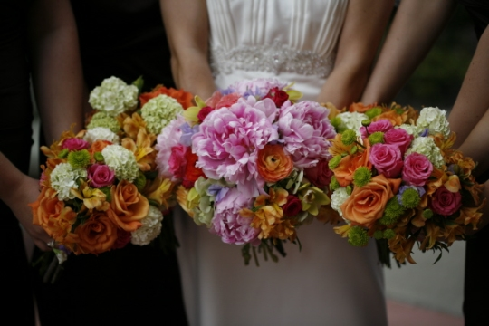 Bold Colored Wedding Bouquets