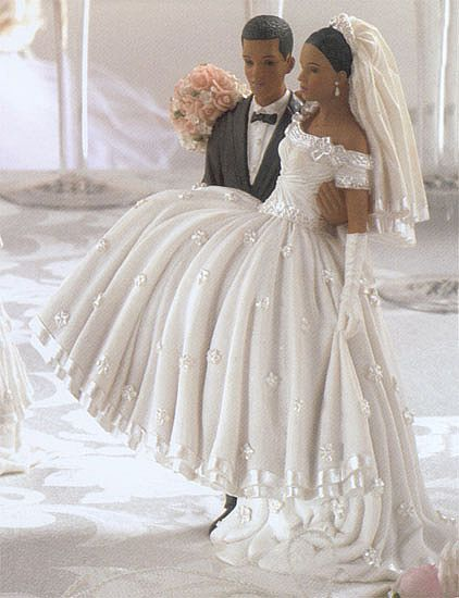 funny african american wedding cake toppers