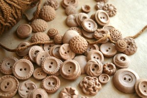 Buttons made from chocolate candy