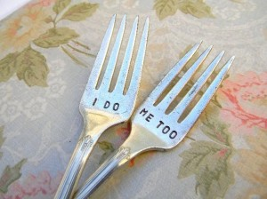 Ingraved Wedding Fork Set