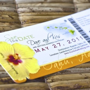 Save the Date Boarding Pass