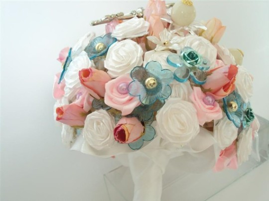 Silk Flower Wedding Bouquet