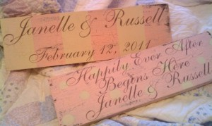 Signs for Weddings