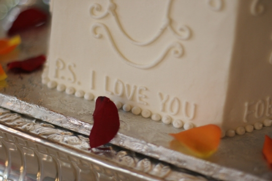 Wedding cake inscription