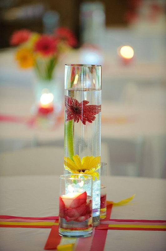 Gerbera daisy centerpieces i do weddings how junglespirit Choice Image