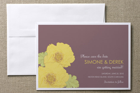 Unique colors for a Save-the Date Card